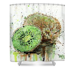 Kiwi 1 Shower Curtain by Arleana Holtzmann