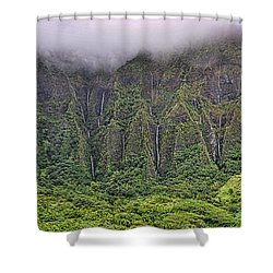 Ko'olau Waterfalls Shower Curtain by Dan McManus