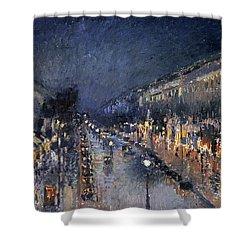 Pissarro: Paris At Night Shower Curtain by Granger