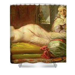 Reclining Odalisque Shower Curtain by Theodore Chasseriau