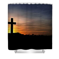 The Heavens Declare The Glory Of God Shower Curtain by Benanne Stiens