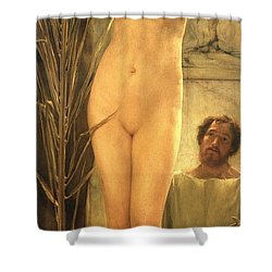 The Sculptor's Model Shower Curtain by Sir Lawrence Alma-Tadema