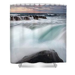 The Wave Shower Curtain by Evgeni Dinev