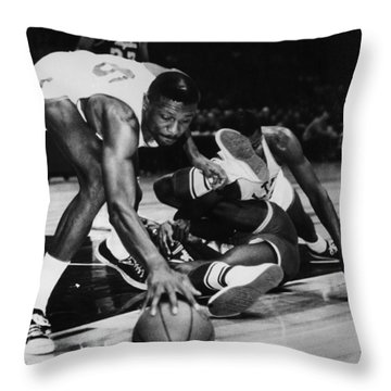 Bill Russell (1934- ) Throw Pillow by Granger