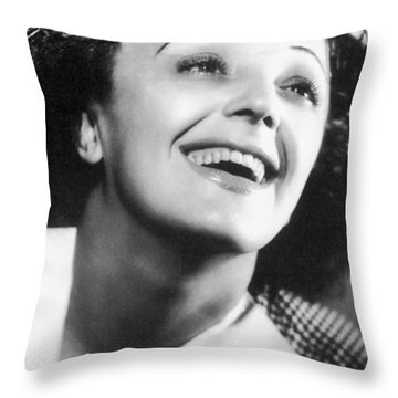 Edith Piaf Throw Pillow by Granger