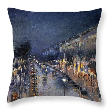 Pissarro: Paris At Night Throw Pillow by Granger
