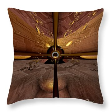 Propelling Forward Throw Pillow by Julie Grace