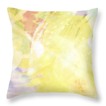 Sunny Tropics Throw Pillow by Maria Eames