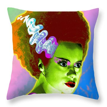 The Monster's Bride Throw Pillow by Gary Grayson