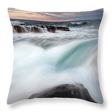 The Wave Throw Pillow by Evgeni Dinev