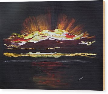 Almost Sunrise Wood Print by Diane Frick