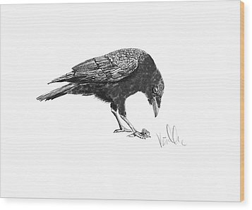 Caw Of The Wild Wood Print by Barb Kirpluk