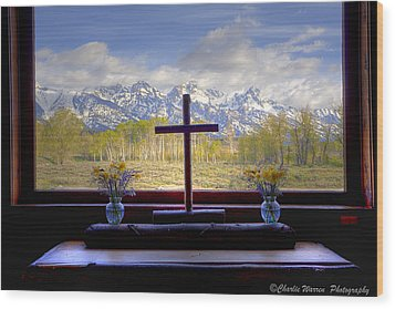 Chapel With A View Wood Print by Charles Warren
