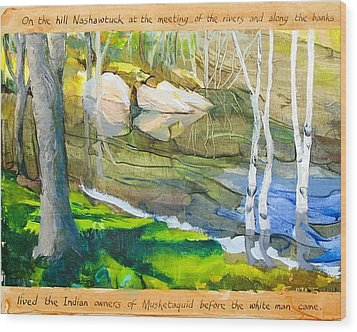 Egg Rock Wood Print by Michael Cunliffe Thompson