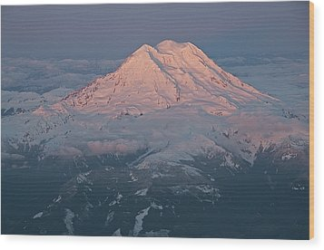 Mount Rainier, Wa Wood Print by Professional geographer who loves to capture landscapes