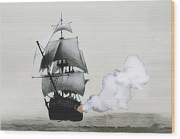 The Old Pirate Wood Print by Tyler Martin