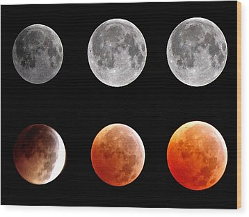 Total Eclipse Of Heart Sequence Wood Print by Joannis S Duran / Freelance Photographer