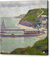 Harbour At Port En Bessin At High Tide Acrylic Print by Georges Pierre Seurat