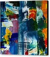 Abstract Color Relationships L Canvas Print by Michelle Calkins
