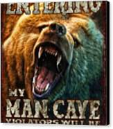 Man Cave Canvas Print by JQ Licensing