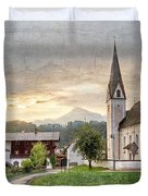 Country Church Duvet Cover by Debra and Dave Vanderlaan