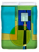 Abstract Shapes Color Two Duvet Cover by Gary Grayson