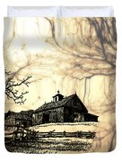 Barn Out Back 2 Duvet Cover by Cheryl Young