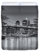 Brooklyn Bridge Twilight II Duvet Cover by Clarence Holmes