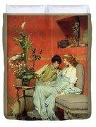Confidences Duvet Cover by Sir Lawrence Alma-Tadema