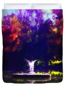 Lake Angel St. Mary's Ambler Duvet Cover by Bill Cannon