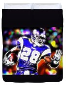 Magical Adrian Peterson   Duvet Cover by Paul Van Scott