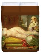 Reclining Odalisque Duvet Cover by Theodore Chasseriau