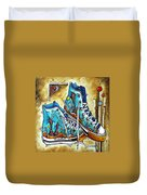 Whimsical Shoes By Madart Duvet Cover by Megan Duncanson
