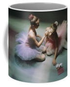 Ballerinas Get Ready For A Performance Coffee Mug by Richard Nowitz