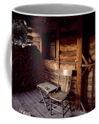 Firewood And A Chair On The Porch Coffee Mug by Joel Sartore