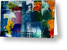 Abstract Color Relationships L Greeting Card by Michelle Calkins