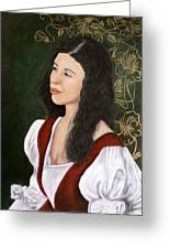Lady Lauren Greeting Card by Jan Amiss