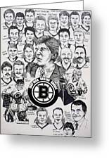 1988 Boston Bruins Newspaper Poster Greeting Card by Dave Olsen