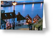 199 Steps Whitby Greeting Card by John Potter