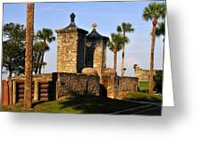 The Old City Gates Greeting Card by David Lee Thompson
