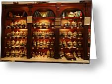 A Display Of Tea In A Tea Shop Greeting Card by Richard Nowitz