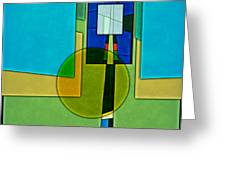 Abstract Shapes Color Two Greeting Card by Gary Grayson