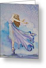 Ballerina Performs Greeting Card by Joyce Hutchinson
