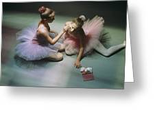 Ballerinas Get Ready For A Performance Greeting Card by Richard Nowitz