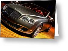 Bentley Continental Gt Greeting Card by Cosmin Nahaiciuc