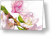 Blossom And Butterflies Greeting Card by Sharon Lisa Clarke