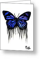 Butterfly Tears Greeting Card by Mike Grubb