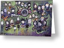 Chris Daniels And Friends Greeting Card by Laurie Maves ART