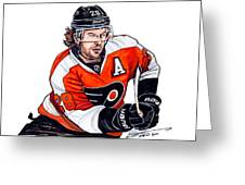 Claude Giroux Greeting Card by Dave Olsen