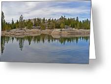 Coming Storm Lake Utica Sierra Nevada Landscape Panorama Larry Darnell Greeting Card by Larry Darnell
